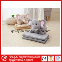Elefante suave almofada de brinquedo com cobertor