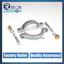 Morsetto ad alta pressione resistente sanitario della flangia del tubo dell'acciaio inossidabile con la noce di rame