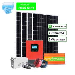 الطاقة الشمسية مولّد الطاقة المنزلية2kw 3kw 5kw الطاقة الشمسية سعر النظام