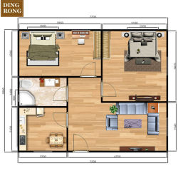 小さいプレハブの容器によっては3家4の2寝室が家へ帰る