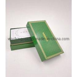 中国の工場はスタンプのロゴの緑のふたおよびベースボックスの茶ボックスコーヒーボックスを卸し売りする