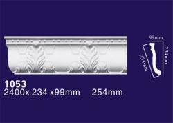PU материал внутренней декоративной короны для литьевого формования с белого цвета для установки на стену / потолок