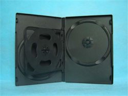 Caixa de DVD 14mm 14mm DVD 14mm tampa DVD Rectange Preta