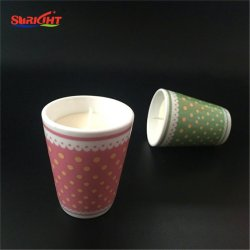 Decaled keramischer Kerze-Behälter, 100% natürliches Sojabohnenöl-Wachs-Aroma-duftende Kerze