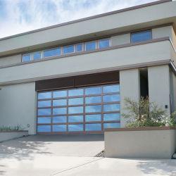 Alliage d'aluminium automatique verre porte de garage commercial pour la boutique