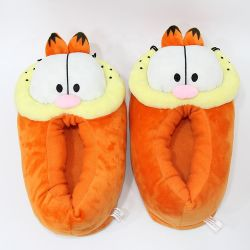 Soft recheadas Garfield Gato Chinelos Plush Cartoon Character Chinelos