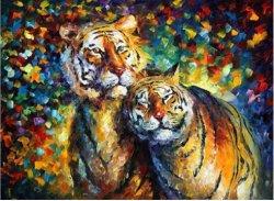 Precios baratos de lienzo de aceite normal lleno de bricolaje taladro Diamante de Tigre pintura
