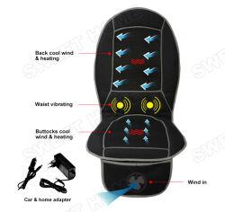 Электрический Cool-Heating-вибрирующая массажная матрас назад шиатсу Car-массажная подушечка