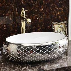 Lavabo sanitario di arte della porcellana della decalcomania degli articoli per il lavabo (C1195)