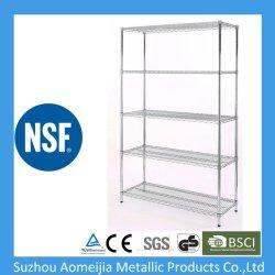 Le fil d'étagères en acier chromé Home-Style Rack de stockage