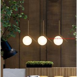 Страны Северной Европы Стеклянный шарик подвесной светильник Gold современной LED люстра висящей лампы