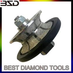 El vacío de granito con soldadura fuerte de las ruedas de perfil de bits de router
