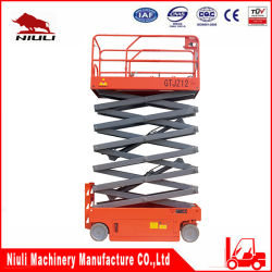 Niuli Scissor Man Lift Platform 12m 자체 추진 유압 리프트 테이블