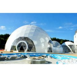 3-60m大きいアルミニウムフレームの測地線の透過ドームLEDの軽い測地線のテント党屋外の測地線ドームのテント
