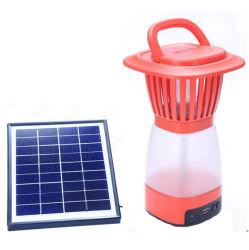 LED Recarregável Solar Portátil Camping Lantern com o assassino de Mosquito