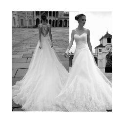 Sweetheart Sexy princesse robe de mariée de broderie Dentelle blanc