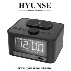 Le Qi OEM de recharge sans fil Bluetooth 4.2 Le président deux ensembles d'un réveil radio USB auxiliaire TF Fonction Snooze