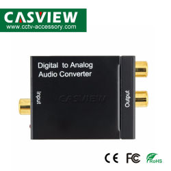 Cavo ottico convertitore audio digitale/analogico Toslink to Analog Convertitore di segnale RCA da 3,5 mm SPDIF