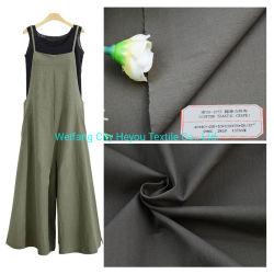Mejor la venta el 98%2%Algodón Spandex Crepe tejidos de prendas de vestir vestidos para damas