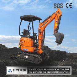 Chinesischer Hersteller 2 Ton Crawler Mini Bagger Digger Kleine Bagger Traktor mit Japan Engine Rubber Track