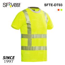 Poly-Cotton Hi по безопасности отражает футболка