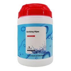 패키지 200PCS Wet Wipes Sanitizer 항균 소독제 손 세척 알코올 일회용 가족용 습식 와이프