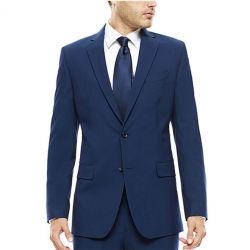 Vestito nero di affari e di svago del plaid degli uomini su ordinazione di fabbricazione