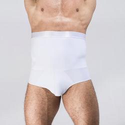 신식 이음새가 없는 Mens는 셰이퍼 복서 직업 바디 남자 배 통제를 위한 간단한 젊음 체중 감소 더 호리호리한 높은 신축성 Shapewear 남자의 내복을 요약한다