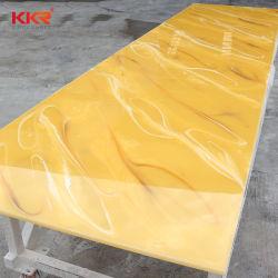 Dekoration-materielles lichtdurchlässiges Steinharz-feste acrylsaueroberfläche