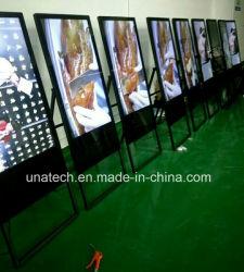 Beweglicher Innen32inch Media Player unabhängiger Totem-beweglicher Kiosk-fördernde Anzeigen 43inch geben LED-stehende Digital-videobildschirm LCD-Plakat-Bildschirmanzeige frei