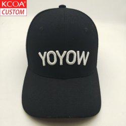 도매 블랙 여름 맞춤형 로고 스포츠 플렉스 핏 아빠의 모자