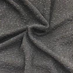 青いホイルの伸縮性があるポリアミドのElastane黒い編まれたファブリックダンスの摩耗