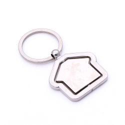 Promoção personalizado Loja Dom do logotipo em branco do anel da chave de Metal