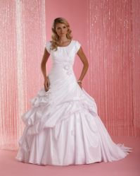 Kurzer Hülsen-Hochzeits-Ballkleid-Kleid-bräutlicher hoher Stutzen-Brautkleid 2020 bilden lang Blumen aus
