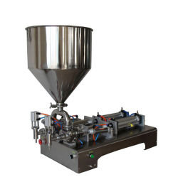 2개의 분사구 Semi-Liquid 투약 충전물 기계