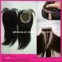 Encerramento da base de seda de cabelo Brasileiro de Stock de Peças de cabelo, Envio gratuito