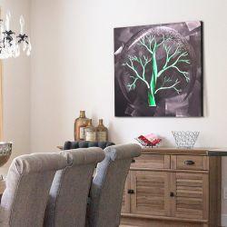 3D Baum-Farbanstrich des Metallled für moderne Innenwand-Kunst-Dekoration 100% handgemacht