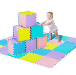 24*24дюйма из пеноматериала детей играть коврик Non-Toxic малыша из пеноматериала играть коврик взаимосвязанных детский пол головоломки красочные EVA плитки
