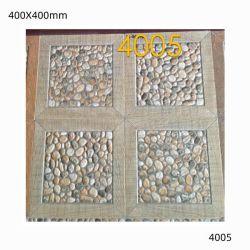 400x400 Cobble Stone 床は庭のためのガラスされたセラミックタイルを張り
