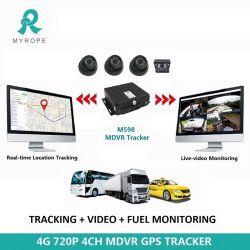 Mdvr 4CH WiFi 1080P 720p Ahd HDD DVR móvel em tempo real através de PC/Telefone para vigilância de veículos