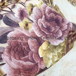 De poliéster de alta qualidade Velvet bordados procurando Imprimir com Tc fazendo backup delicado tecido de mobiliário