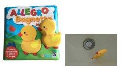 Kind-Bad-Buch und Upringt sich hin- und herbewegendes Bad-Spielzeug