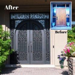 良質のカスタム熱いすくいの電流を通された錬鉄のゲートの前ドア