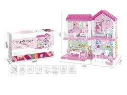 Populair Girl House New Bright Dream Villa Toy doet alsof spelen Speelgoed