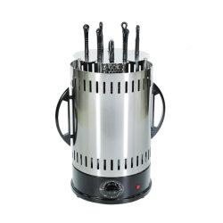 Eléctrico acero inoxidable 6 Polo sin humo extraíble automático vertical giratoria Parrilla