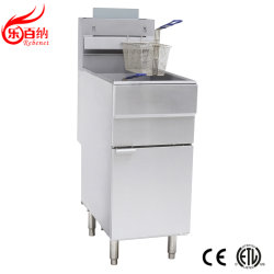 China Professional Manufacturer Commercial American Gas Deep Fat Franse frites Chicken Fish Chips friteuse in roestvrij staal ETL is snel genoteerd Voedselapparatuur (GF90)