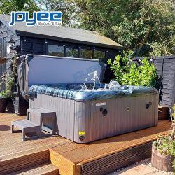 STAZIONE TERMALE esterna della vasca calda della famiglia di uso della casa del giardino del pannello esterno di massaggio del mulinello bianco blu economico del raggruppamento