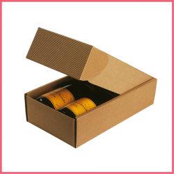 China impresso personalizado papel de Papelão Ondulado Embalagens Vinho Caixas de Embarque duas garrafas Fabricante Fábrica do Fornecedor