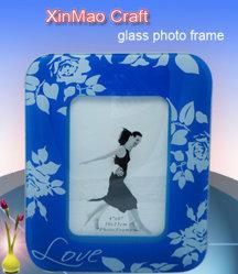 Cadre Photo en verre bleu (XHBP-063)