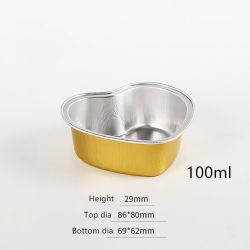 처분할 수 있는 바베큐 뚜껑 알루미늄 호일 집에 사가지고 가는 요리 상자를 가진 직사각형 식사 상자를 두껍게 하는 주름 자유로운 은종이 금